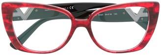 Valentino Eyewear Cat-Eye Frame Glasses