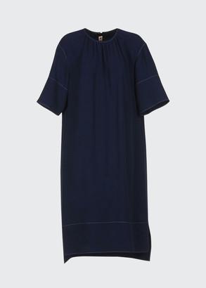 Marni Contrast Stitching Shift Dress