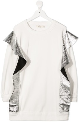 Andorine TEEN metallic detail sweater dress