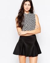 Love Moschino Checkered Sleeveless Shirt