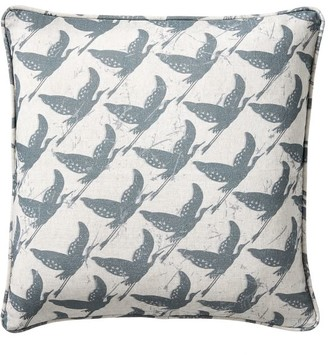 Pottery Barn Crane Printed Pillow Cover