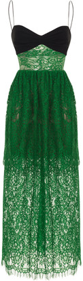 Rasario Embroidered Lace Sheath Dress