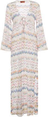 Missoni Mare Crochet-Knit Cover Up Maxi Dress