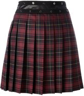 Giamba pleated plaid skirt - women - Polyester/Polyurethane/Spandex/Elastane/Virgin Wool - 40