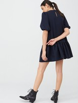 Very Crepe Smock Dress - Navy
