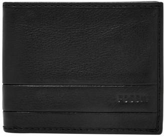 Fossil Lufkin Traveler Wallet Black
