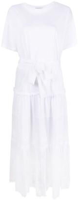 Ermanno Scervino Lace-Panel Tie-Waist Dress