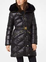 Michael Kors Faux-Fur Trimmed Nylon Coat