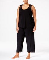 Thalia Sodi Plus Size Lace-Trimmed Peekaboo-Back Pajama Set, Only at Macy's