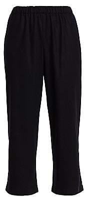 Comme des Garcons Women's Flannel Wool Cropped Pants