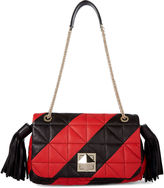 Sonia Rykiel Red Quilted Leather Flap Bag