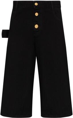 Bottega Veneta Wide-Leg Denim Shorts