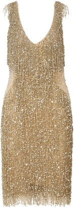 Naeem Khan Embellished Tulle Dress