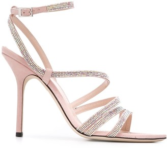 Pollini Embellished High Heel Sandals