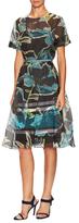 Carolina Herrera Crewneck Semi-Sheer Dress