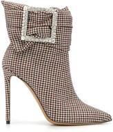 Alexandre Vauthier houndstooth ankle boots