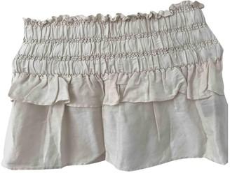 Etoile Isabel Marant Ecru Linen Skirt for Women