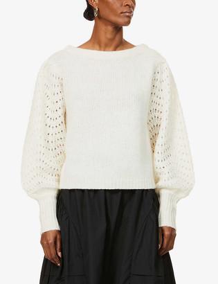 Merlette New York Somerset dolman-sleeved wool-blend jumper