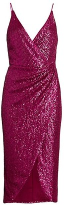 Jonathan Simkhai Sequin Midi Wrap Dress