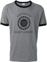Saint Laurent Université ringer T-shirt - men - Cotton - M
