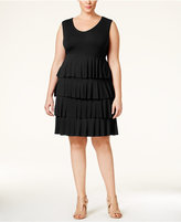 Style&Co. Style & Co. Plus Size Sleeveless Tiered Dress, Only at Macy's