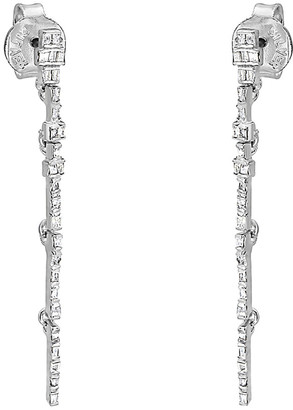 Forever Creations Usa Inc. Forever Creations Silver 1.00 Ct. Tw. Diamond Spike Earrings