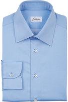 Brioni Men's Polished Poplin Dress Shirt-LIGHT BLUE
