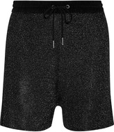 Sandro Phedra metallic knitted shorts