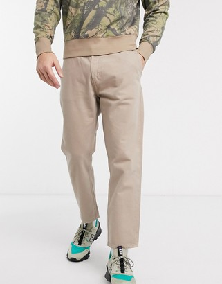 Weekday Barrel relaxed fit jeans in beige