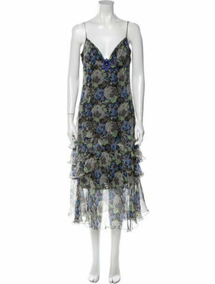Dolce & Gabbana Silk Long Dress Blue