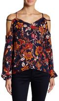 Romeo & Juliet Couture Hi-Lo Shirt with Shoulder Cutouts