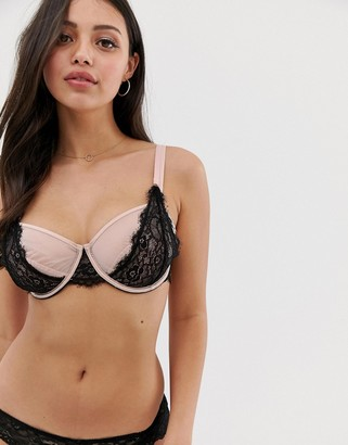 Bluebella harmonia bra in rose with black lace