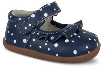 See Kai Run Baby Girl's Belle II Printed Leather Mary Jane First Walkers
