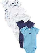 Starting Out Baby Boys Newborn-6 Months 5-Pack Car Bodysuits