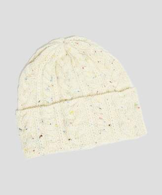 Drakes Drake's Wool Cable Hat in White
