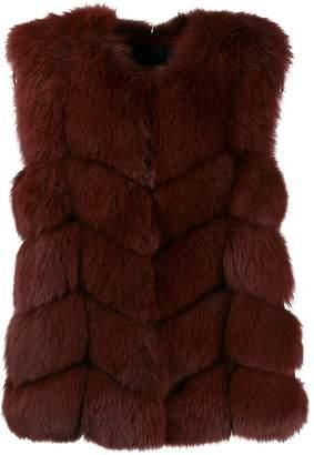 Yves Salomon short fur vest