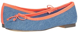 crewcuts by J.Crew Chambray Ballet Flat (Toddler/Little Kid/Big Kid) (Chambray Multi) Girl's Shoes