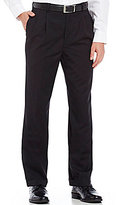 Roundtree & Yorke Year Round Wool Pleated Ultimate Comfort Waist Dress Pants