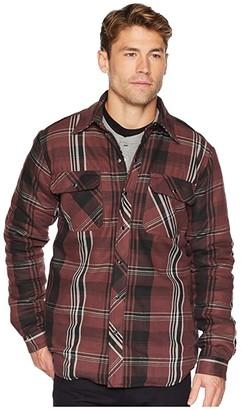 Dickies Modern Fit X-Series Snap Front Shirt Jacket (Cave/Black Plaid) Men's Coat