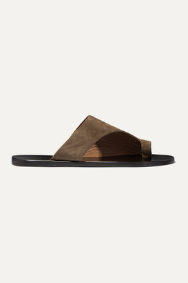 ATP ATELIER Rosa Cutout Suede Sandals - Brown