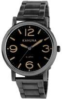 Kahuna Men's Quartz Watch with Dial Analogue Display and Silver Bracelet KGB-0002G