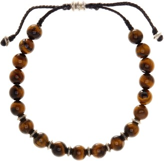 Link Up Tigers Eye Beaded Cord Bracelet