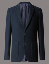 Marks And Spencer Wool Rich 2 Button Jacket With Buttonsafetm