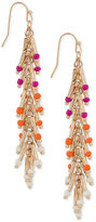 INC International Concepts Robert Rose for Gold-Tone Beaded Drop Earrings, Only at Macy's