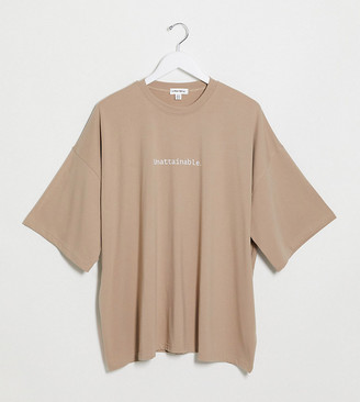Public Desire Curve oversized t-shirt with co-ord
