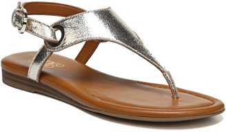 Franco Sarto Slingback Leather Sandals - Grip