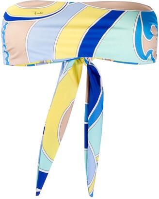 Emilio Pucci Quirimbas bandeau bikini top
