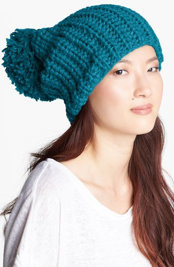 Evelyn K Oversize Pom Knit Beanie