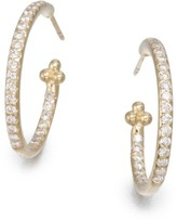 Temple St. Clair Classic Diamond & 18K Yellow Gold Hoop Earrings/0.7""