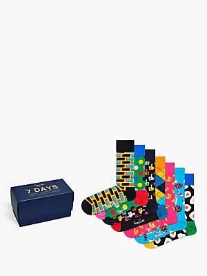 Happy Socks Seven Day Socks Gift Box, One Size, Pack of 7, Multi